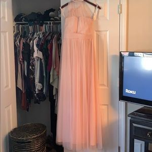 Bill Levkoff Dresses - Bill Levkoff blush pink bridesmaids dress
